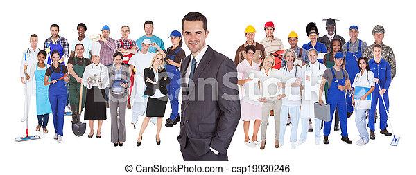 métiers, différent, longueur pleine, gens - csp19930246