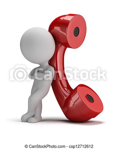 3D gente pequeña, llámame - csp12712612