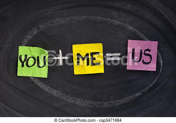 mí, usted, concepto, -, relación - csp3471684