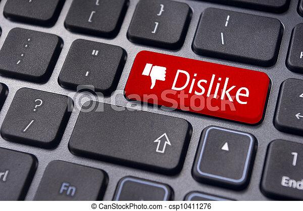 mídia, mensagem, entrar, anti, teclado, concepts., desagrado, social - csp10411276