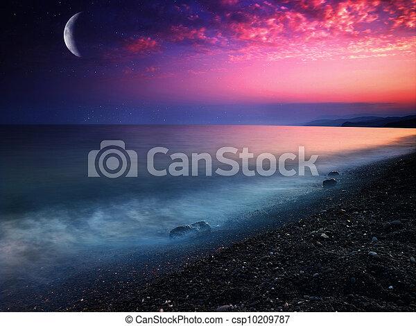 místico, natural, abstratos, fundos, sea. - csp10209787
