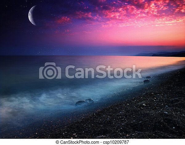 Mar místico. Abstraer los orígenes naturales - csp10209787