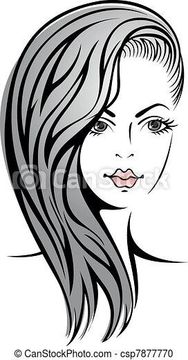 Mädchen mit blondem Haar - csp7877770