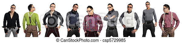 mód, nadrág, ing, férfiak - csp5729985