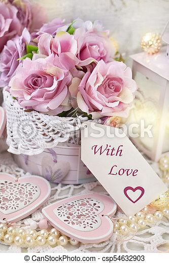 mód, szeret, kopott, szöveg, valentines, címke, dekoráció, dolgozat, esküvő, sikk, vagy, romantikus - csp54632903