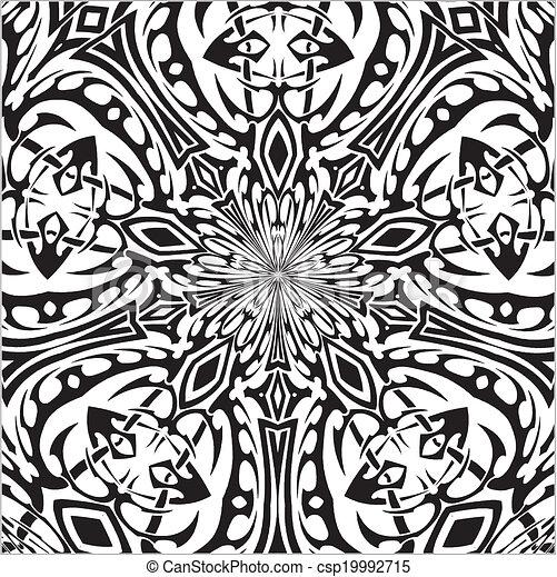 mód, tetovál, törzsi - csp19992715