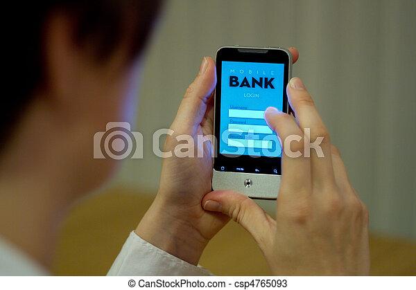 móvel, operação bancária - csp4765093