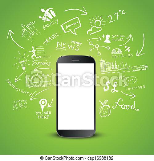 móvel, produtividade - csp16388182