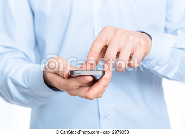 móvel, tela, tocar - csp12979053