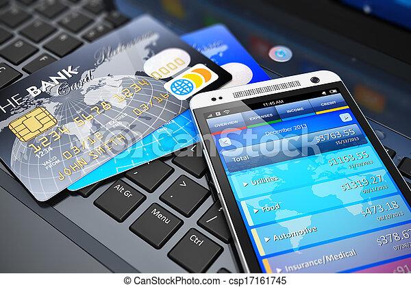 El concepto de banca móvil y finanzas - csp17161745