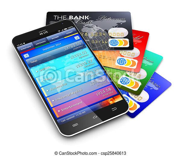 El concepto de banca móvil y finanzas - csp25840613