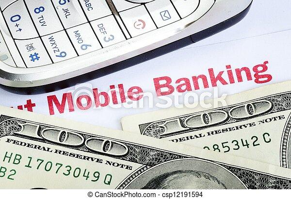 Banca móvil - csp12191594