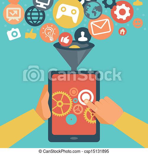 Concepto de desarrollo del sector móvil - csp15131895