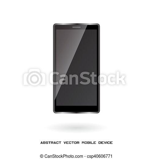 móvil, dispositivo, adminículo, moderno - csp40606771