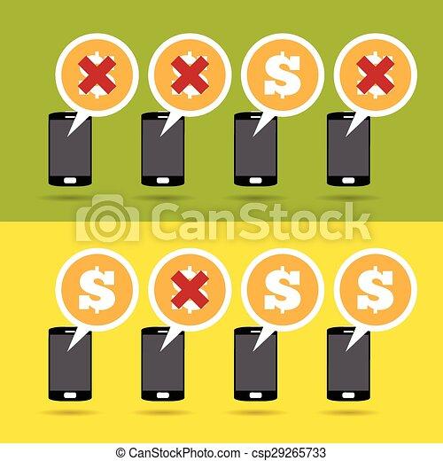Beneficios y pérdidas móviles - csp29265733