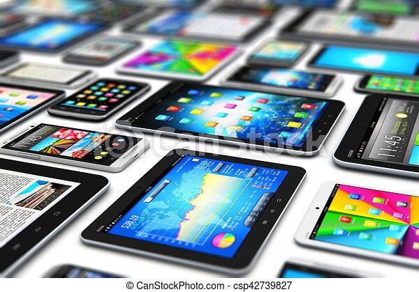 Dispositivos móviles modernos - csp42739827