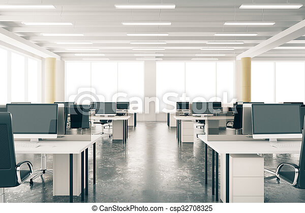 möbel, dachgeschoss, bueroraeume, windows, groß, modern, boden, pfeiler,  beton, rgeöffnete