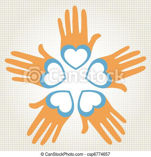 Ich liebe Händevektor. - csp6774657