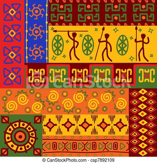 mönster, abstrakt, agremanger, etnisk - csp7892109