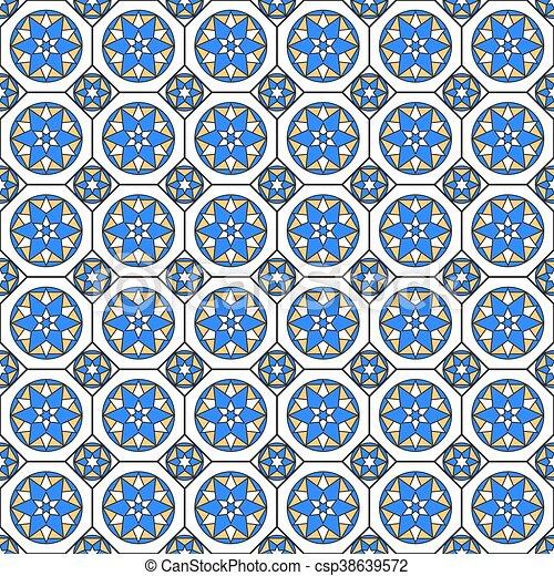 Hochwertig Mönster, Arab, Seamless, Mosaik, Style.   Csp38639572