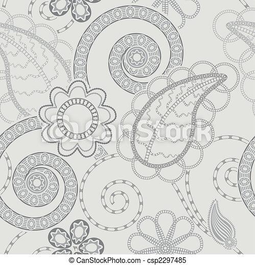 mönster, bakgrund, seamless, blommig - csp2297485