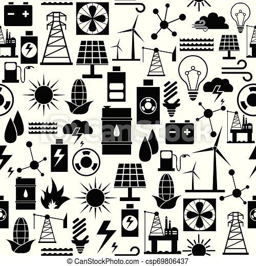 mönster, energi, icon., bakgrund, seamless - csp69806437
