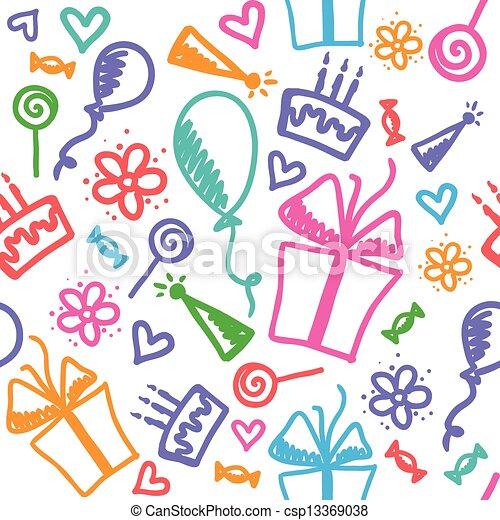 mönster, födelsedag - csp13369038