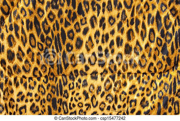 mönster, filt, material, leopard flå, mjuk - csp15477242