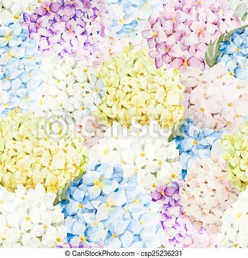 mönster, hortensia - csp25236231