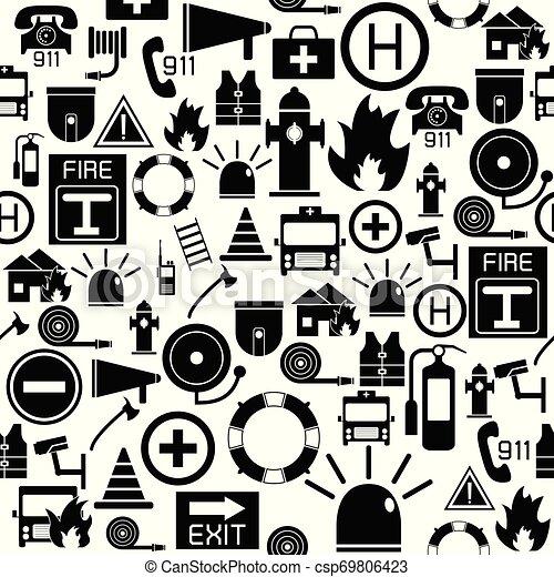 mönster, icon., nödläge, seamless, bakgrund - csp69806423