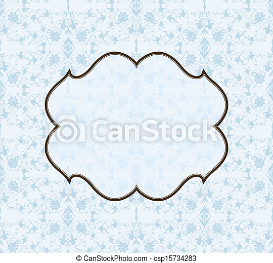 mönster, ram, vektor, seamless, bakgrund - csp15734283