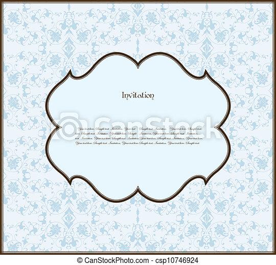 mönster, ram, vektor, seamless, bakgrund - csp10746924