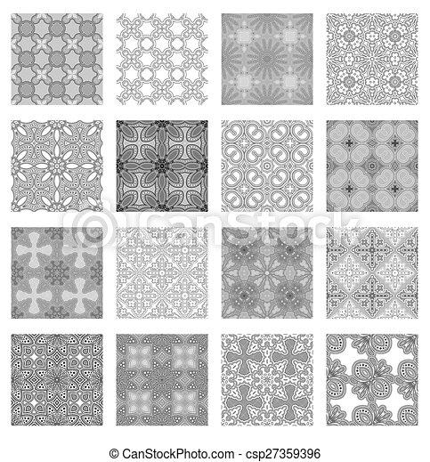 mönster, sätta, seamless - csp27359396