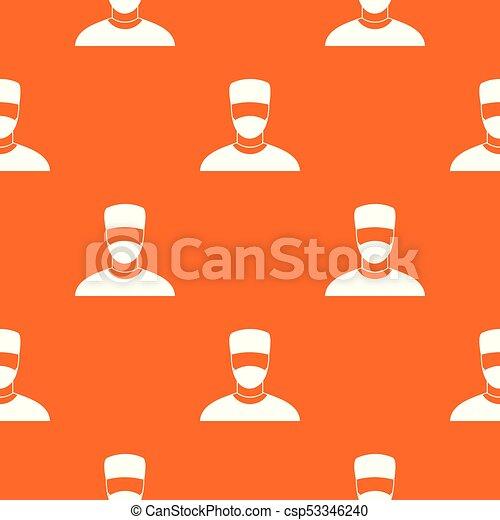 mönster, seamless, läkare - csp53346240