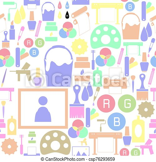 mönster, seamless, måla, bakgrund, icon. - csp76293659