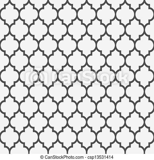 mönster, stil, seamless, islamitisk - csp13531414