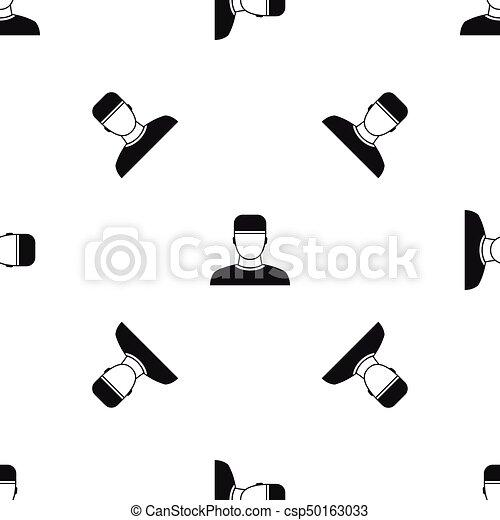 mönster, svart, seamless, läkare - csp50163033
