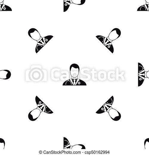 mönster, svart, seamless, läkare - csp50162994