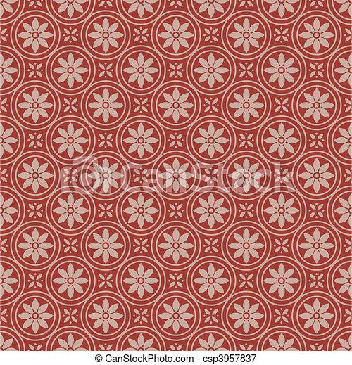 mönster, vektor, seamless, bakgrund - csp3957837