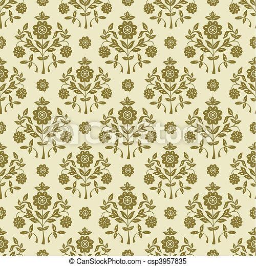 mönster, vektor, seamless, bakgrund - csp3957835