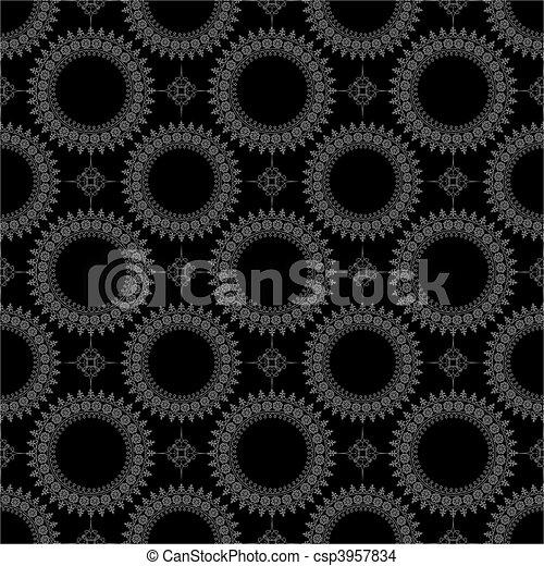 mönster, vektor, seamless, bakgrund - csp3957834