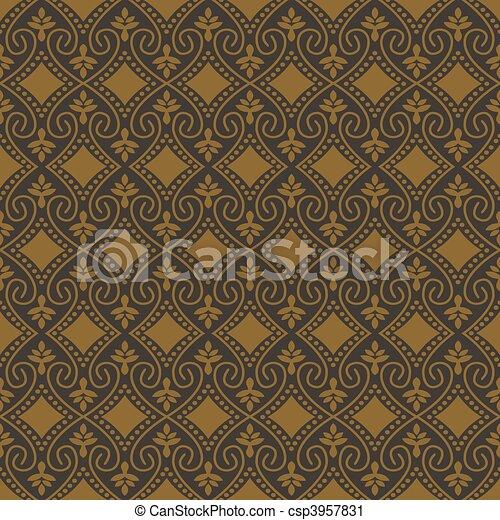 mönster, vektor, seamless, bakgrund - csp3957831