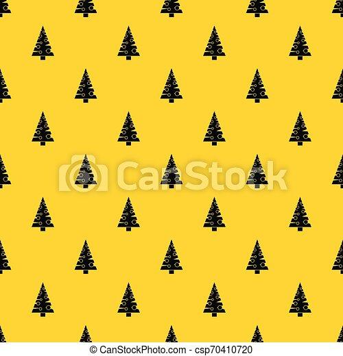 mönster, vektor, träd, jul - csp70410720