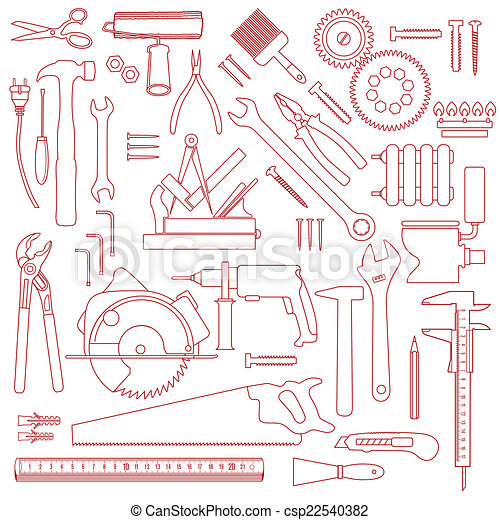mönster, verktyg - csp22540382