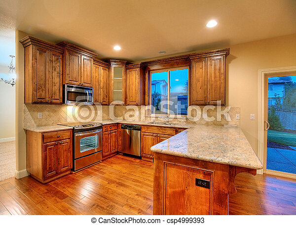 mörk, cherry., kitchen. - csp4999393
