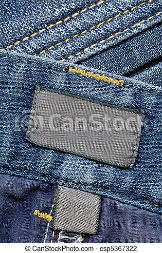 mörk, etiketter, jeans, bomull - csp5367322