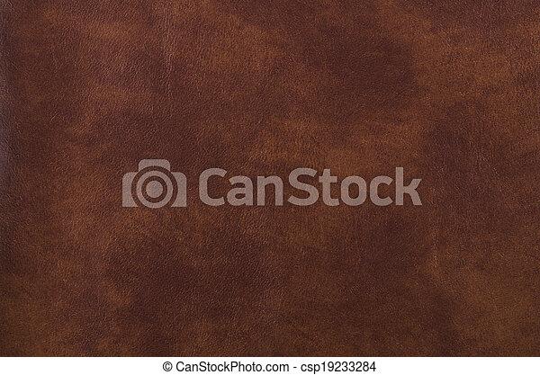 mörk, läder, struktur, brun - csp19233284