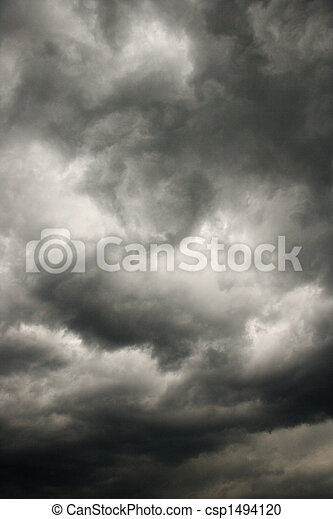 mörk, oväder, clouds. - csp1494120