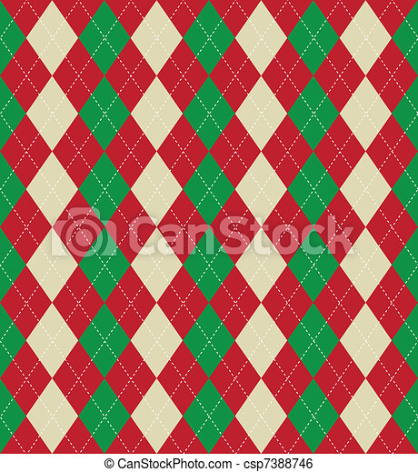 mønster, argyle, jul - csp7388746