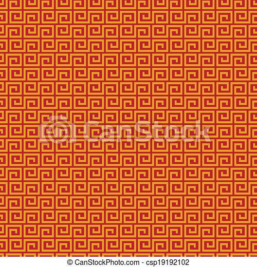 mønster, seamless, kinesisk - csp19192102